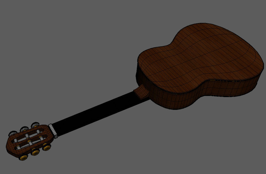 Spanish Guitar royalty-free 3d model - Preview no. 9