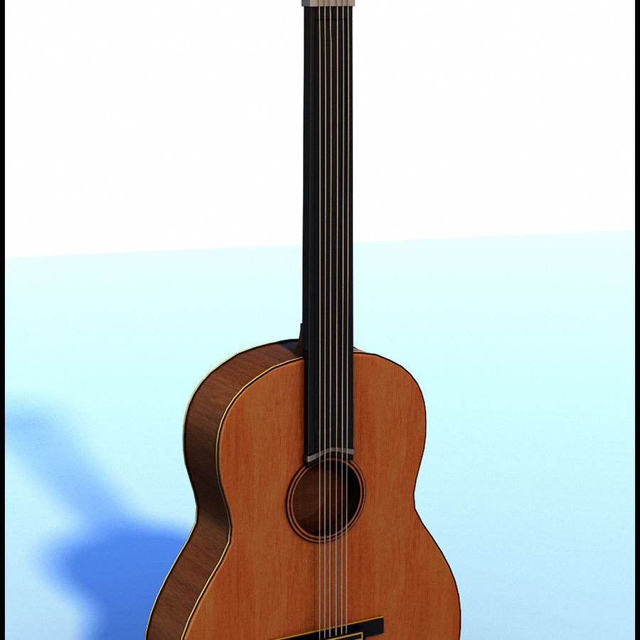 Spanish Guitar royalty-free 3d model - Preview no. 1