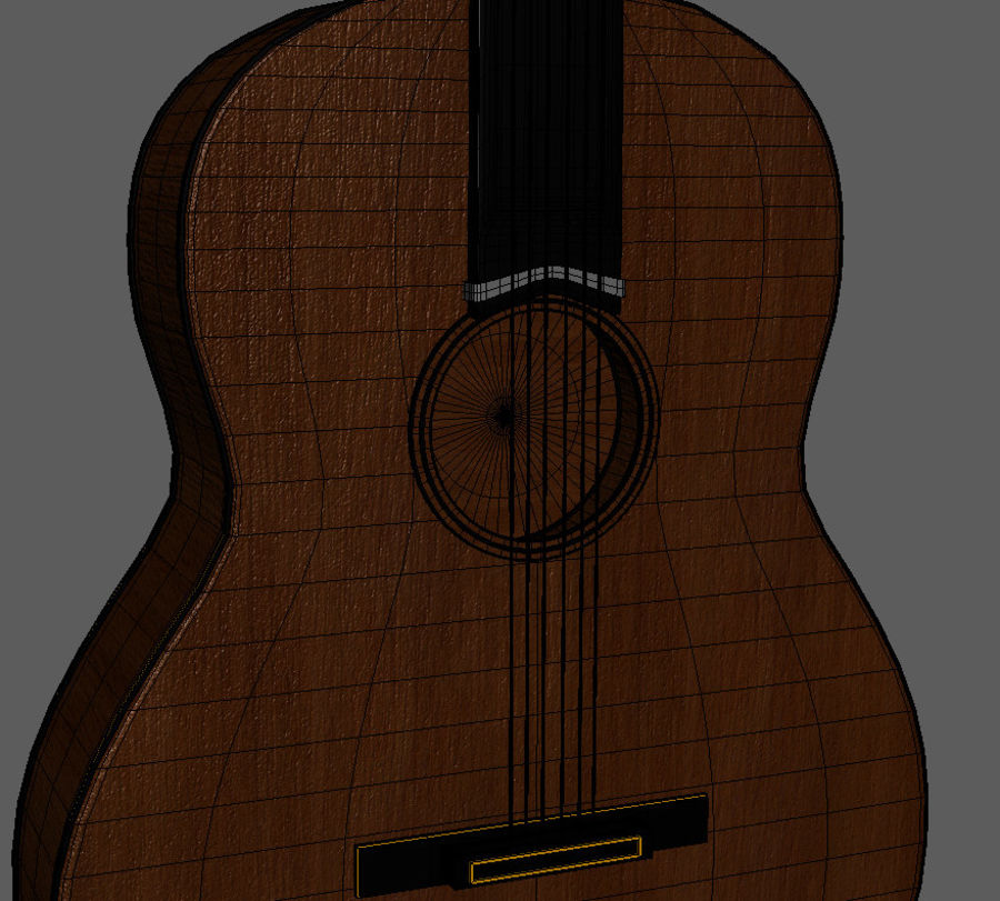 Spanish Guitar royalty-free 3d model - Preview no. 4