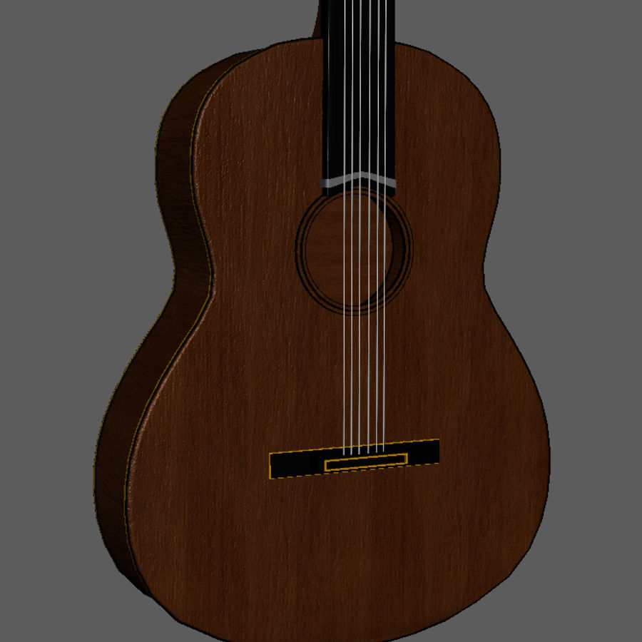 Spanish Guitar royalty-free 3d model - Preview no. 2