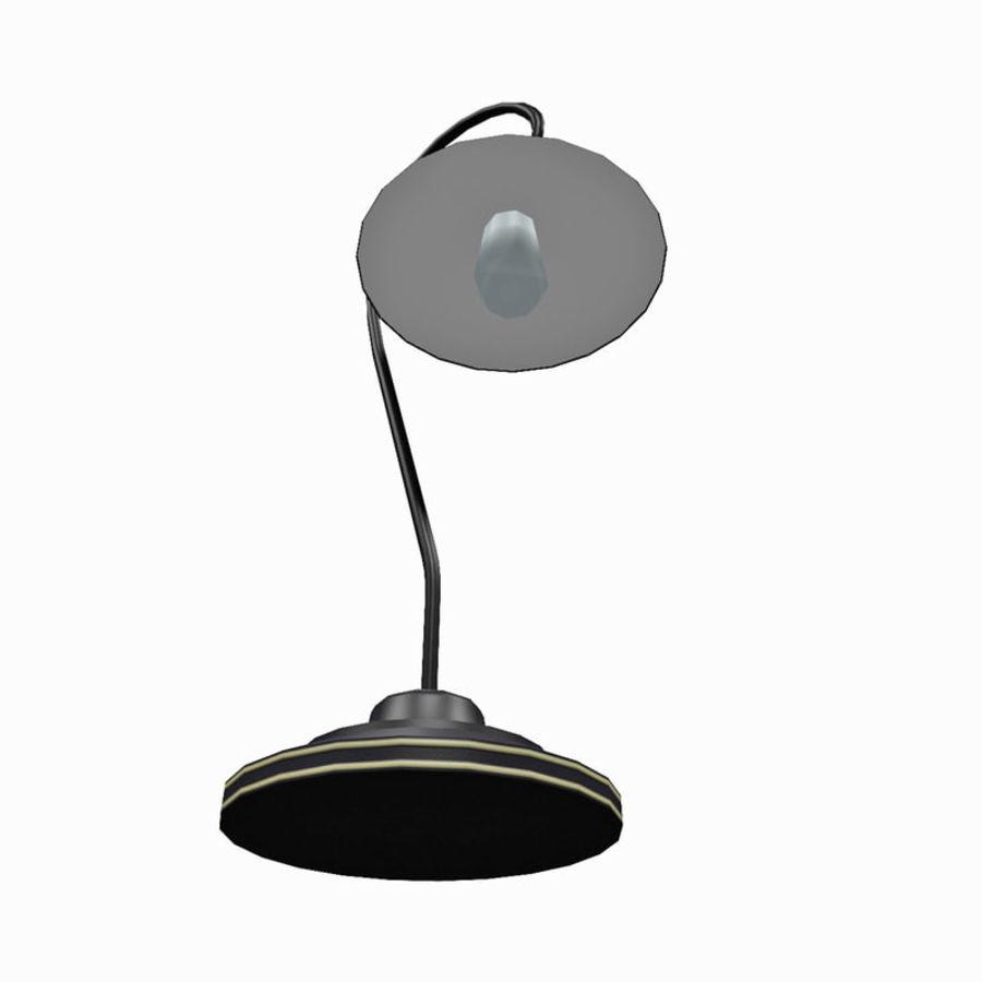Metal desktop lamp royalty-free 3d model - Preview no. 3