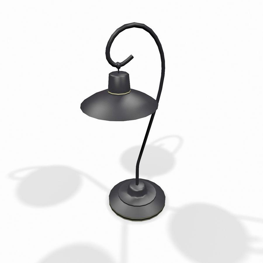 Metal desktop lamp royalty-free 3d model - Preview no. 1
