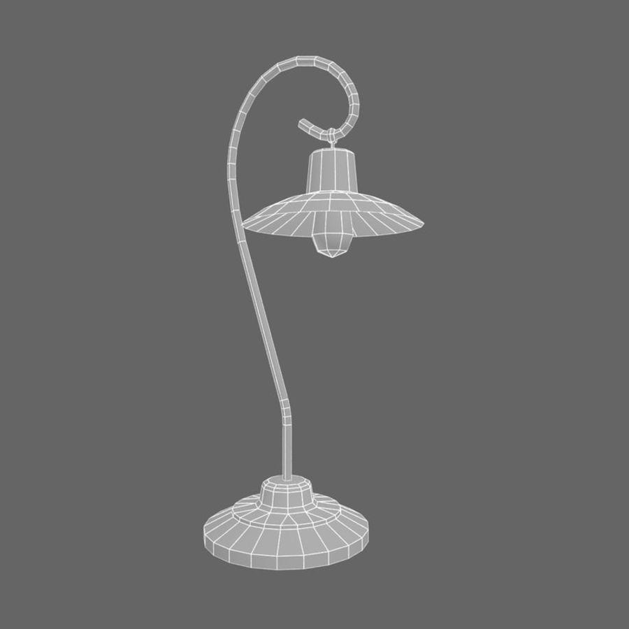 Metal desktop lamp royalty-free 3d model - Preview no. 5