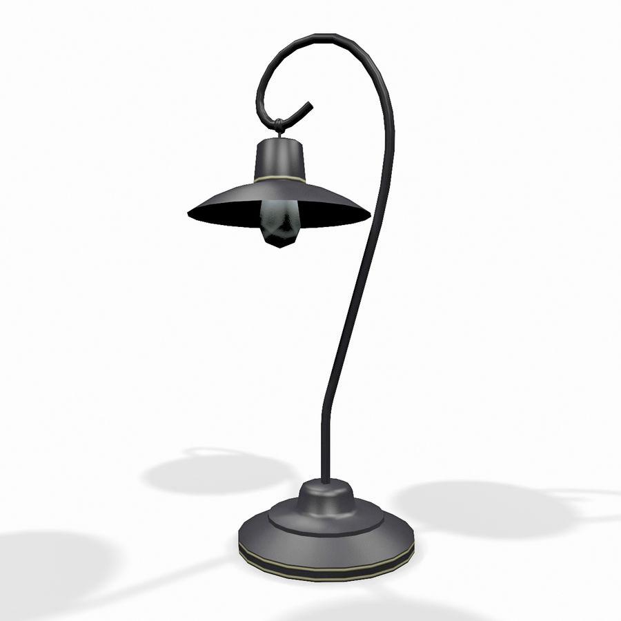 Metal desktop lamp royalty-free 3d model - Preview no. 2