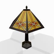 Классическая настольная лампа 3d model