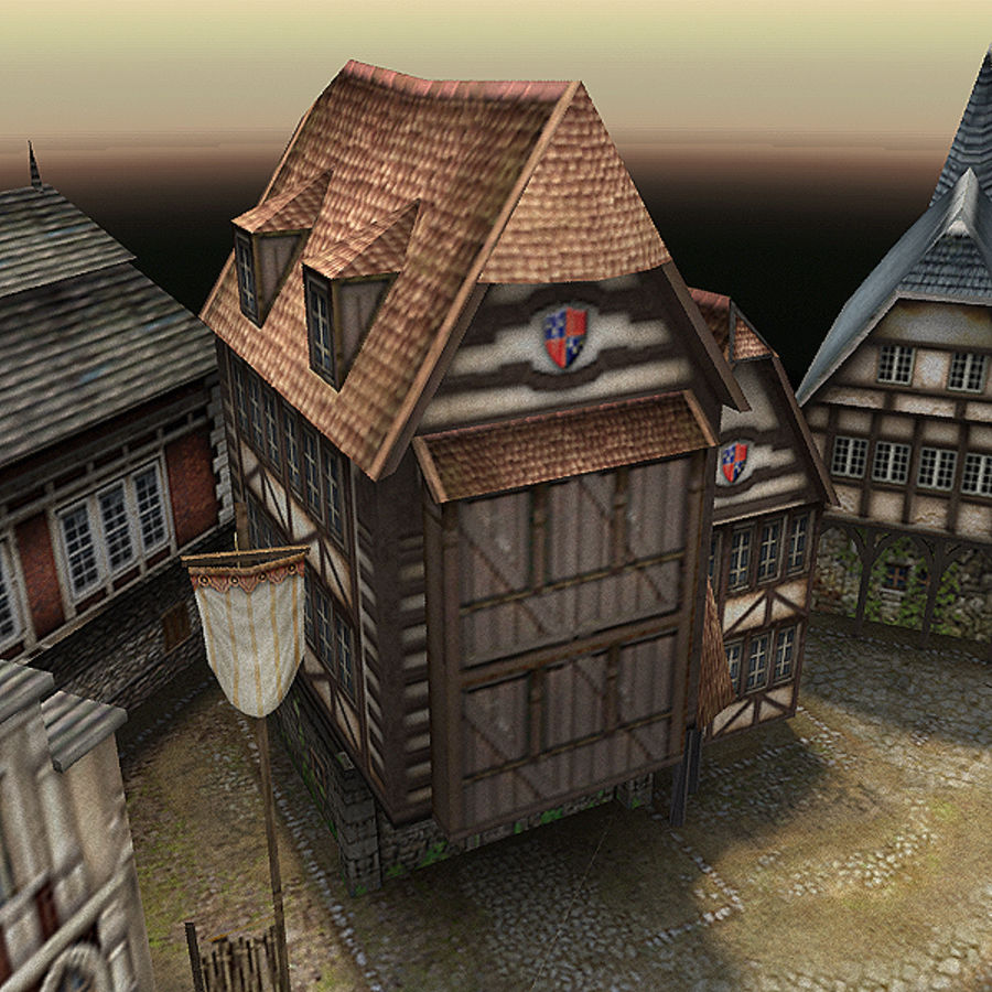 Medieval Village - Game Ready royalty-free 3d model - Preview no. 12