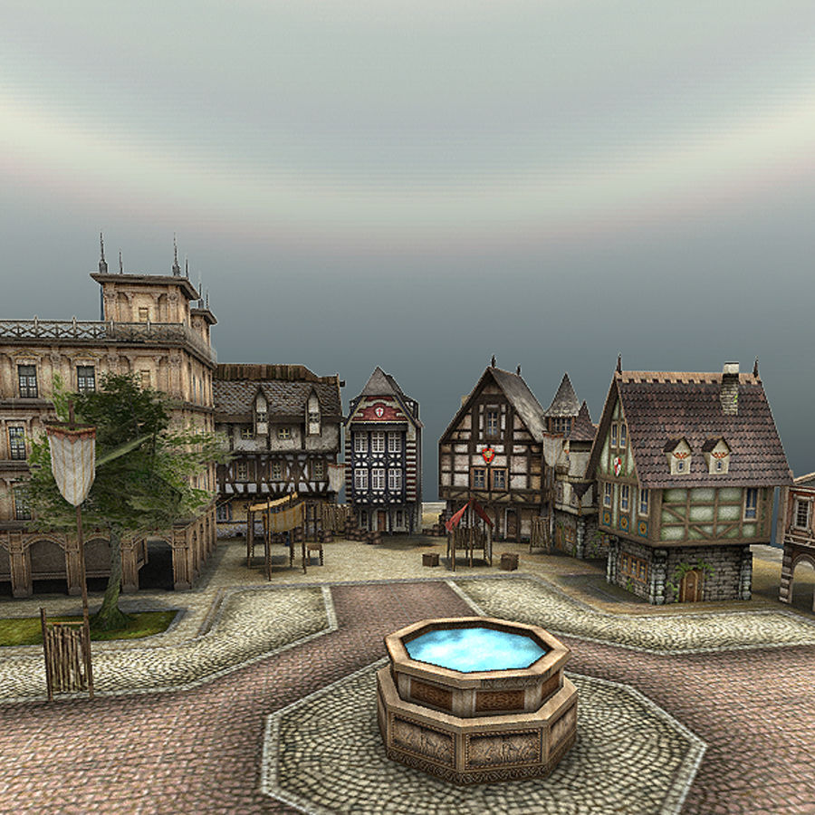 Medieval Village - Game Ready royalty-free 3d model - Preview no. 5