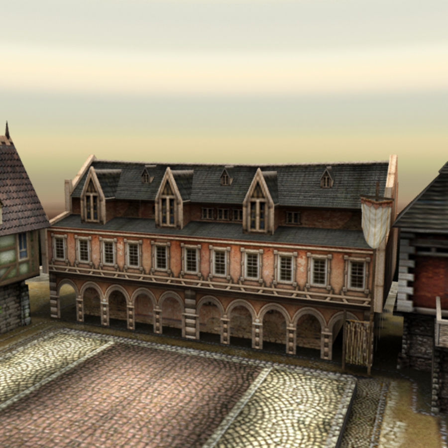 Medieval Village - Game Ready royalty-free 3d model - Preview no. 7