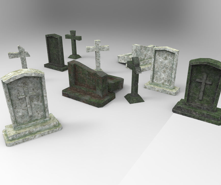 Gravestones Pack#1 royalty-free 3d model - Preview no. 1