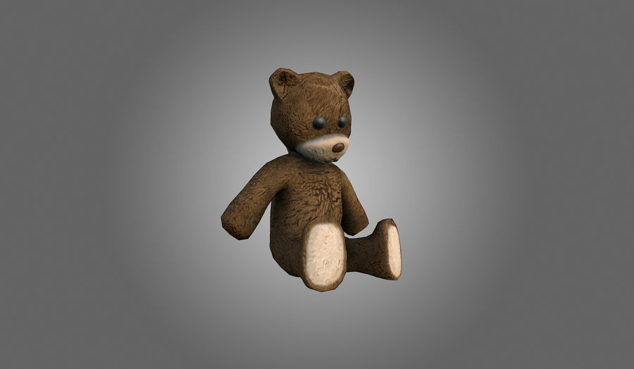 Teddy Bear Düşük Poli royalty-free 3d model - Preview no. 2