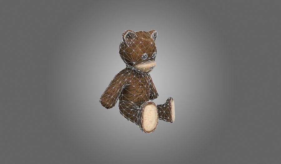 Teddy Bear Düşük Poli royalty-free 3d model - Preview no. 9