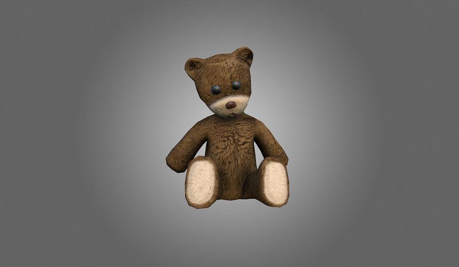Teddy Bear Düşük Poli royalty-free 3d model - Preview no. 3