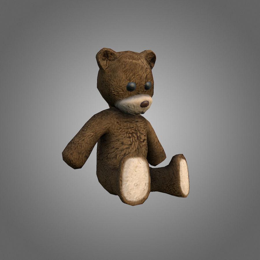 Teddy Bear Düşük Poli royalty-free 3d model - Preview no. 1