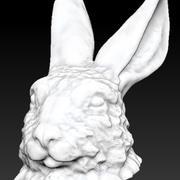 rabbit bunny head bust 3d model