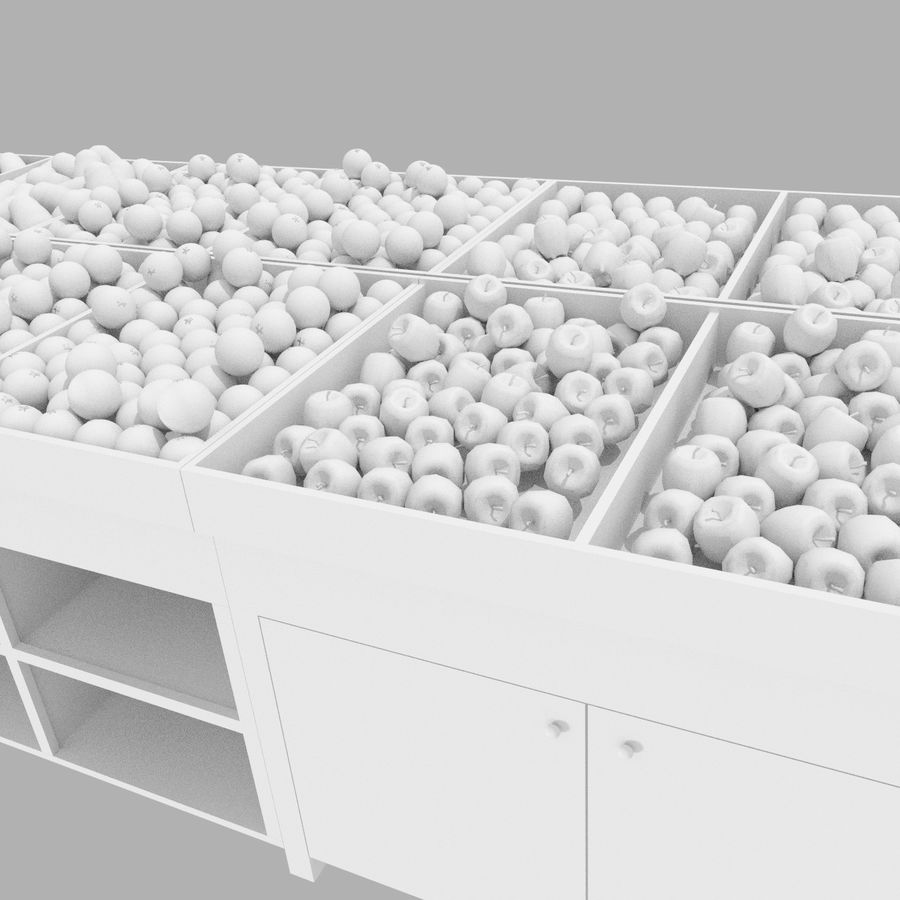 Apple Fruit Stand royalty-free 3d model - Preview no. 1