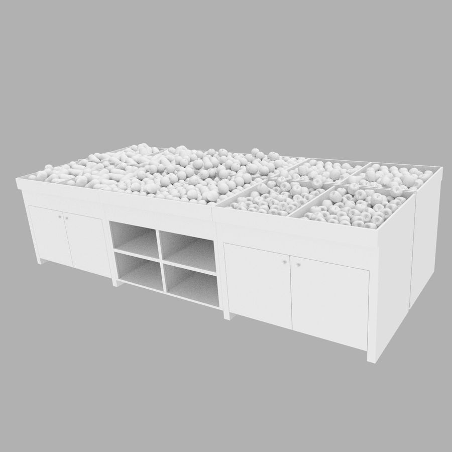 Apple Fruit Stand royalty-free 3d model - Preview no. 2