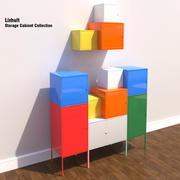 Armadio di stoccaggio Ikea Lixhult 3d model