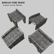 Ponte de pedra modular 3d model