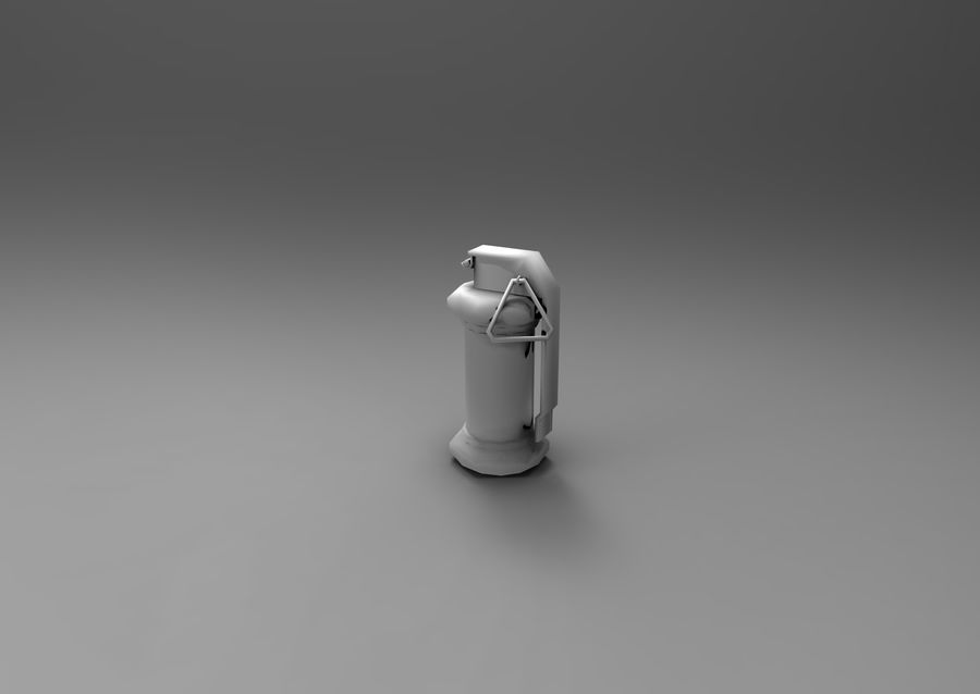 grenade low poly weapon game ready royalty-free 3d model - Preview no. 10