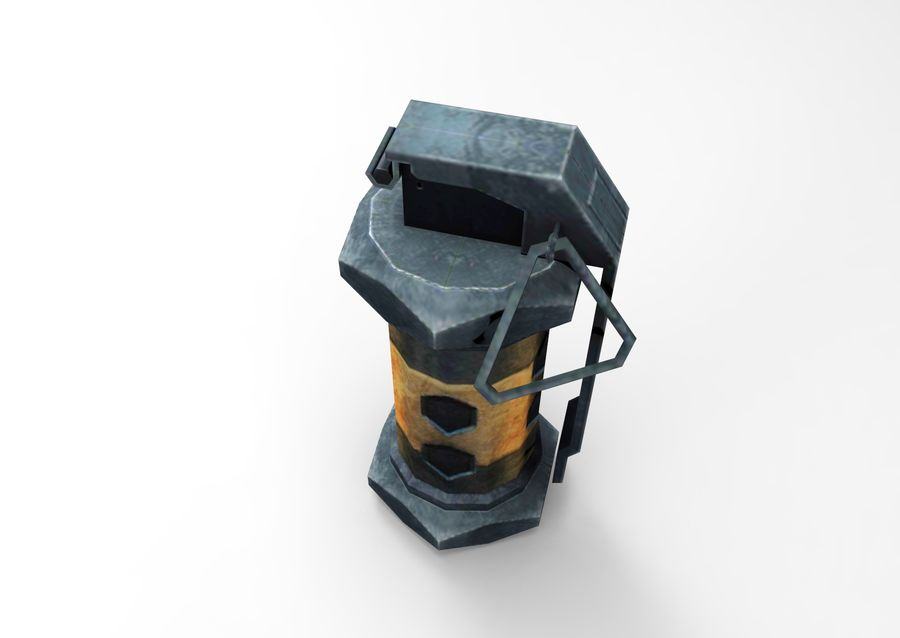 grenade low poly weapon game ready royalty-free 3d model - Preview no. 8
