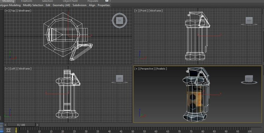 grenade low poly weapon game ready royalty-free 3d model - Preview no. 14