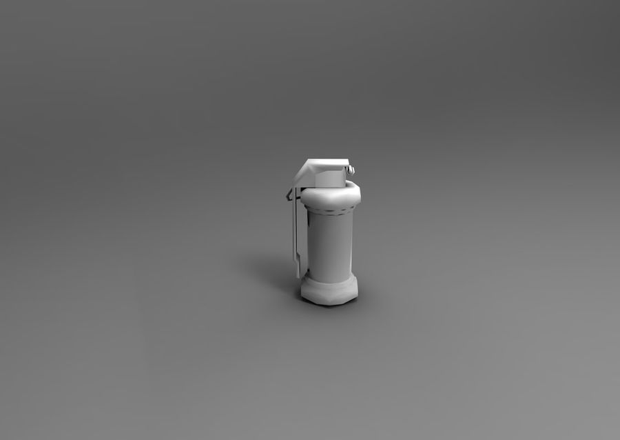grenade low poly weapon game ready royalty-free 3d model - Preview no. 12