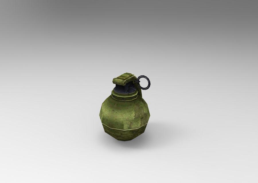 grenade basse poly jeu prêt royalty-free 3d model - Preview no. 28