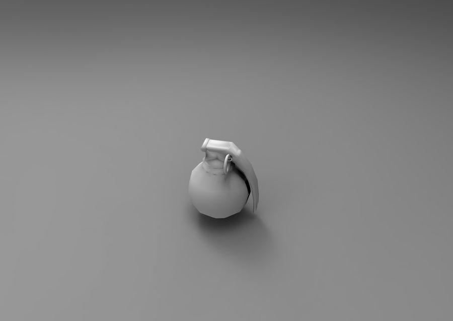 grenade basse poly jeu prêt royalty-free 3d model - Preview no. 16