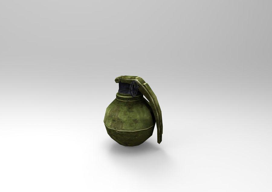 grenade basse poly jeu prêt royalty-free 3d model - Preview no. 38
