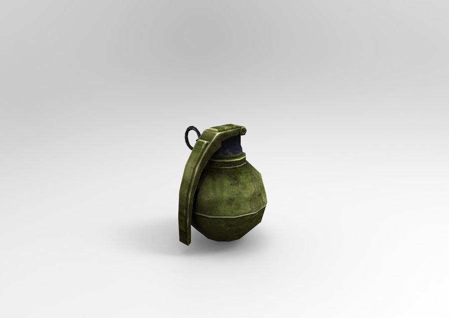 grenade basse poly jeu prêt royalty-free 3d model - Preview no. 25