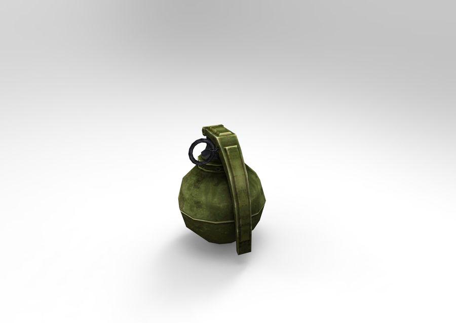 grenade basse poly jeu prêt royalty-free 3d model - Preview no. 2