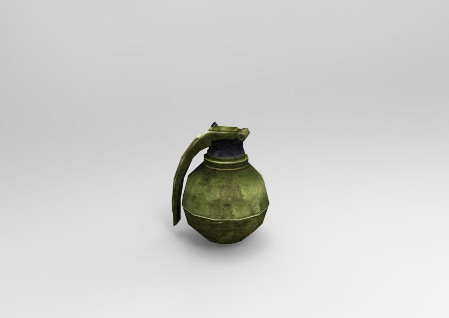 grenade basse poly jeu prêt royalty-free 3d model - Preview no. 26