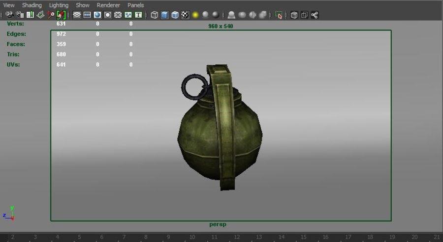 grenade basse poly jeu prêt royalty-free 3d model - Preview no. 52