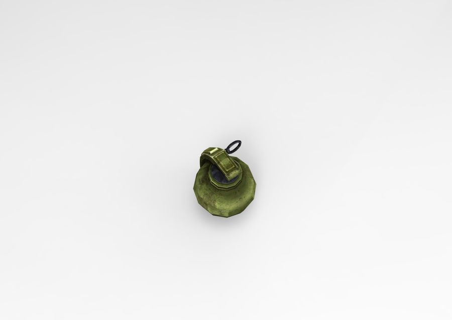 grenade basse poly jeu prêt royalty-free 3d model - Preview no. 42