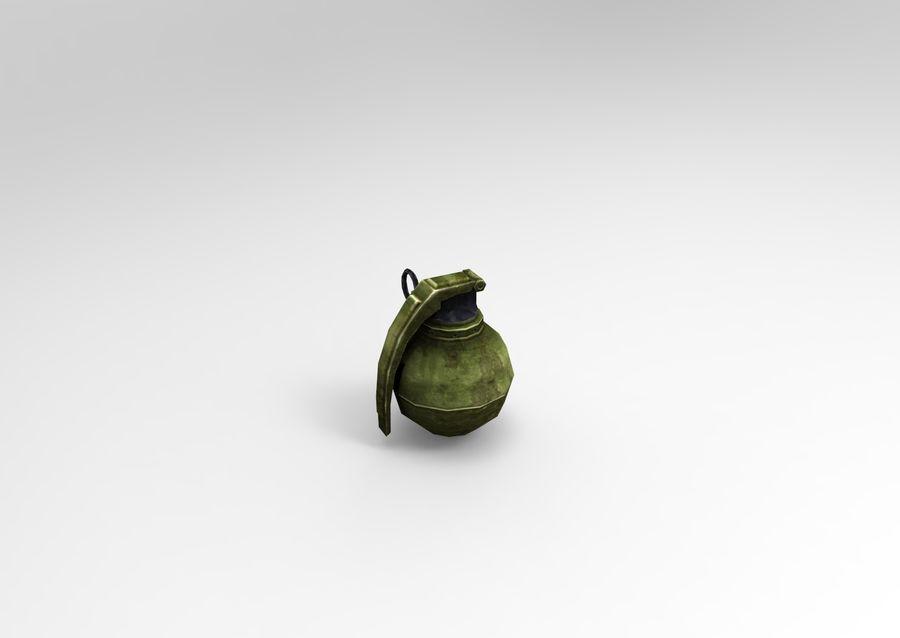 grenade basse poly jeu prêt royalty-free 3d model - Preview no. 43