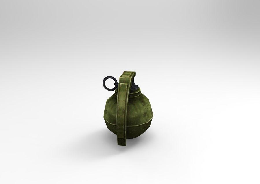 grenade basse poly jeu prêt royalty-free 3d model - Preview no. 3