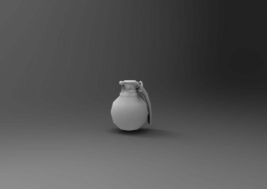 grenade basse poly jeu prêt royalty-free 3d model - Preview no. 21