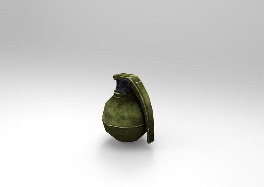grenade basse poly jeu prêt royalty-free 3d model - Preview no. 31