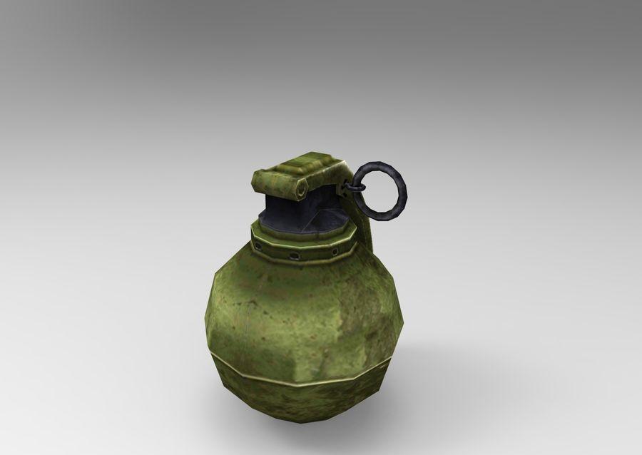 grenade basse poly jeu prêt royalty-free 3d model - Preview no. 41