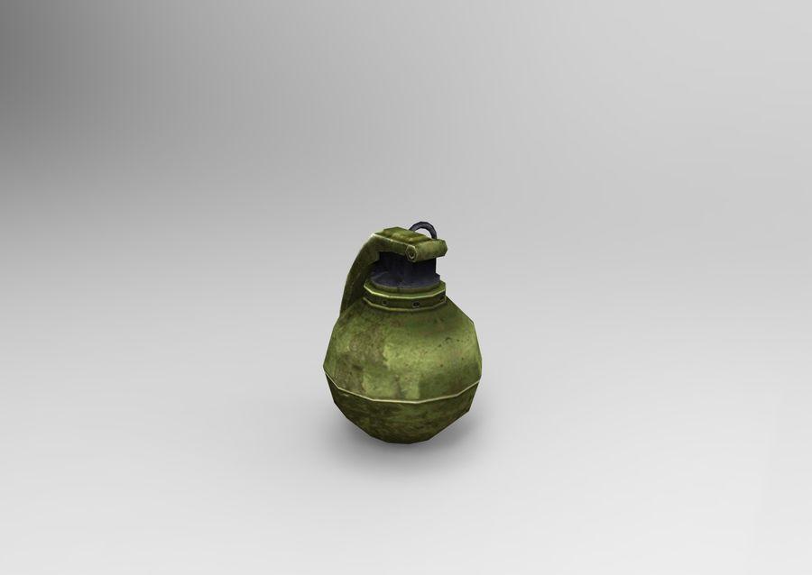 grenade basse poly jeu prêt royalty-free 3d model - Preview no. 35