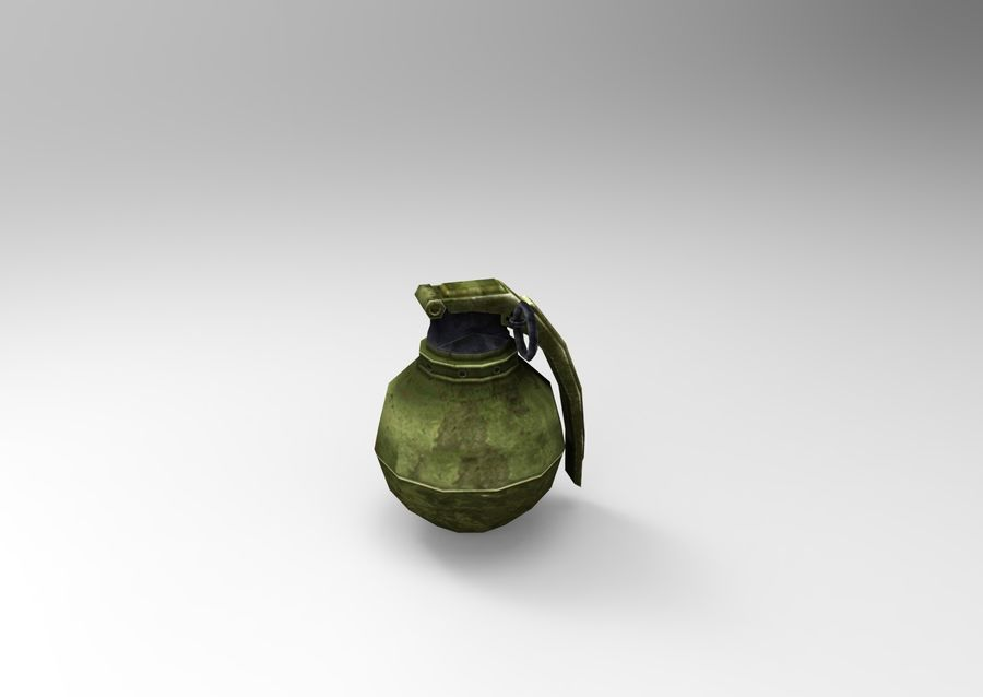 grenade basse poly jeu prêt royalty-free 3d model - Preview no. 29
