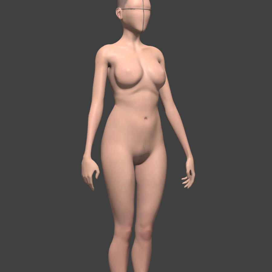 Female body reference royalty-free 3d model - Preview no. 3