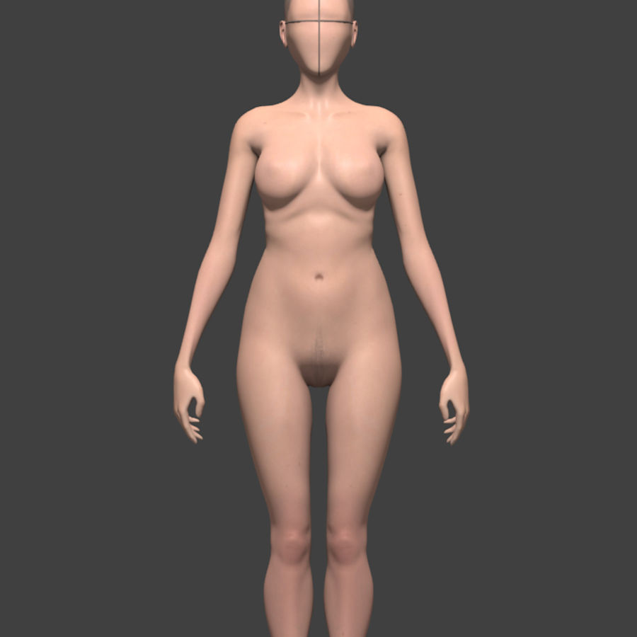 Female body reference royalty-free 3d model - Preview no. 2