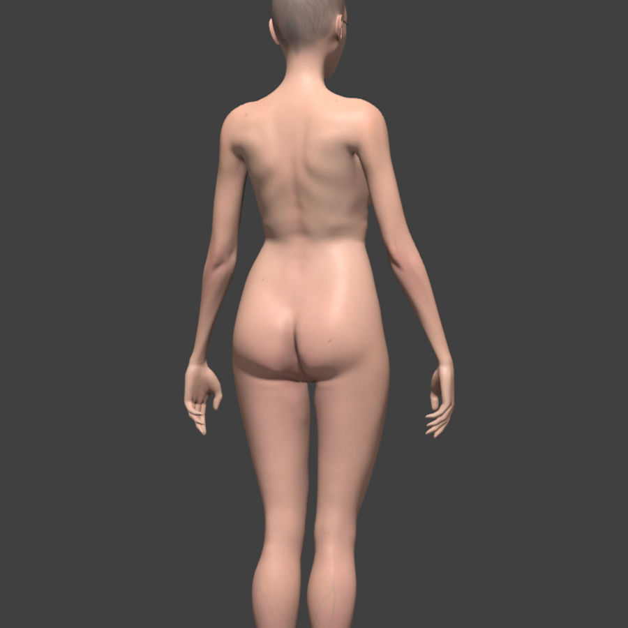 Female body reference royalty-free 3d model - Preview no. 4