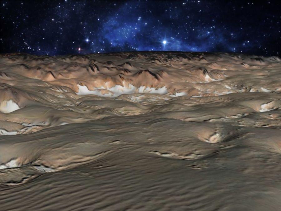 外星人地形火星山脉 royalty-free 3d model - Preview no. 2