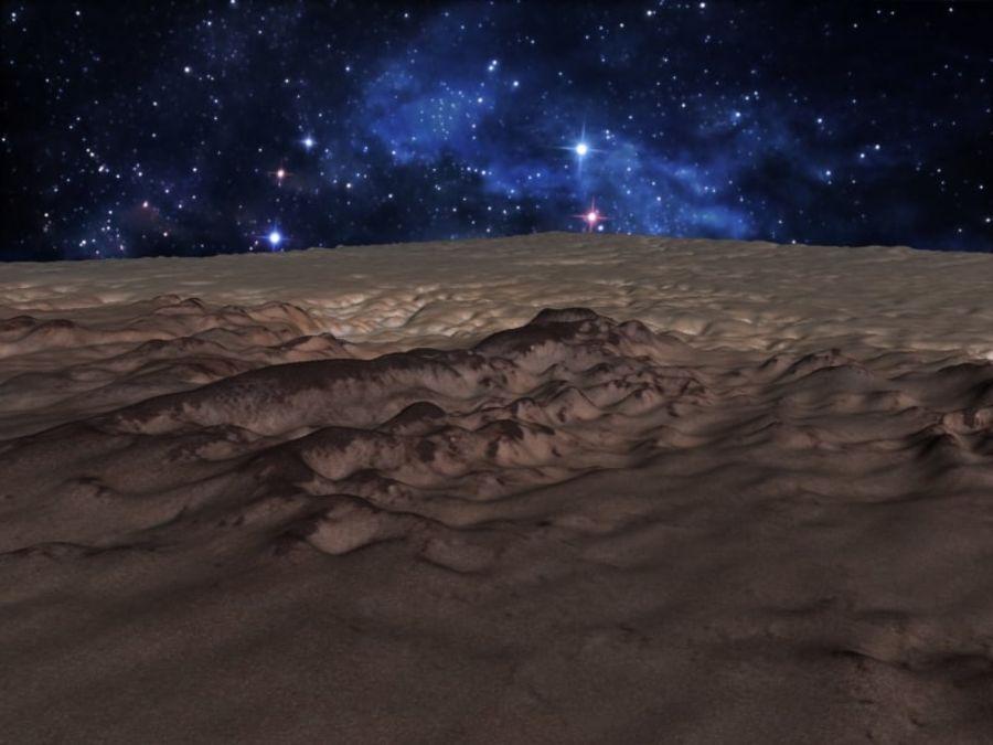 外星人地形火星山脉 royalty-free 3d model - Preview no. 9