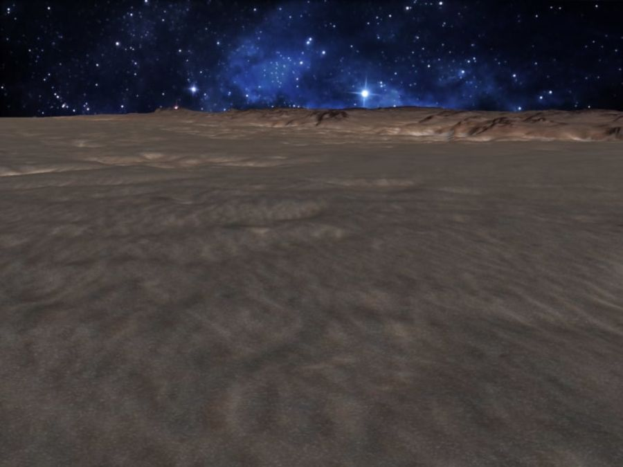 外星人地形火星山脉 royalty-free 3d model - Preview no. 15