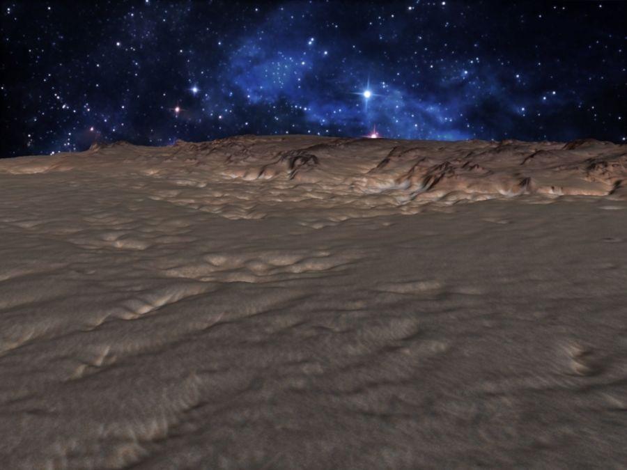 外星人地形火星山脉 royalty-free 3d model - Preview no. 10