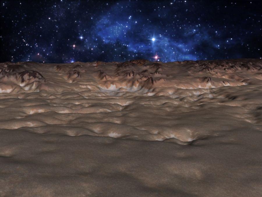 外星人地形火星山脉 royalty-free 3d model - Preview no. 3