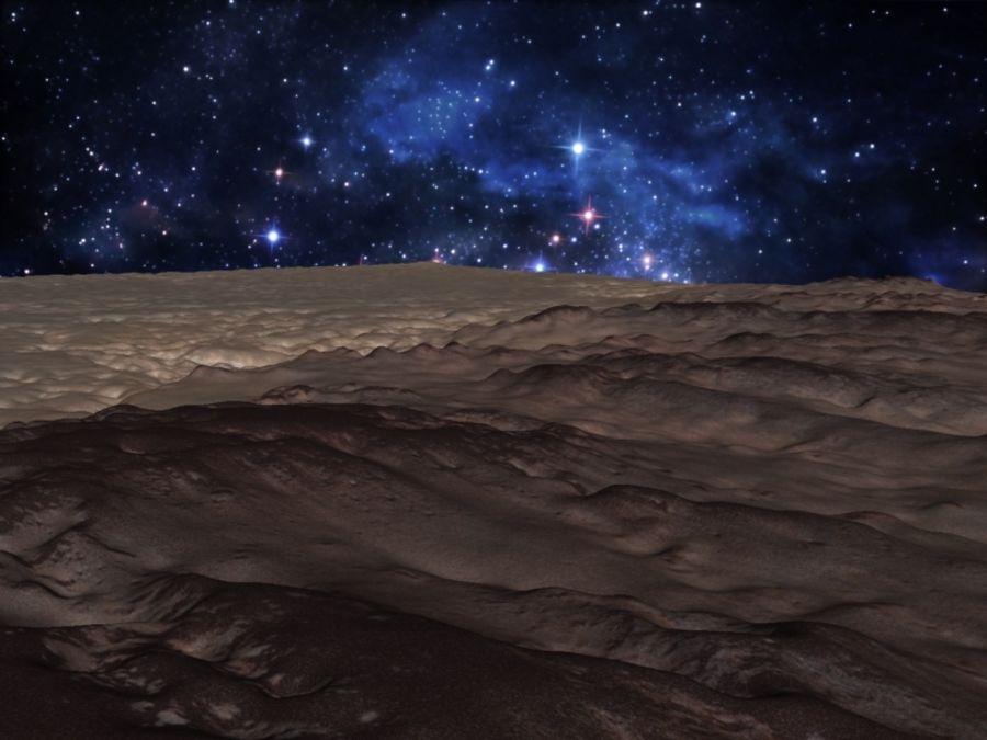 外星人地形火星山脉 royalty-free 3d model - Preview no. 11